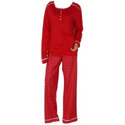 BeeDees Piżama Exotic Kiss 131 PW 1 Czerwień